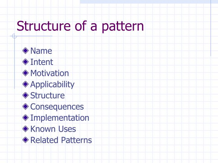 Structure of a pattern