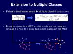 extension to multiple classes