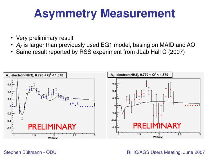 Asymmetry Measurement
