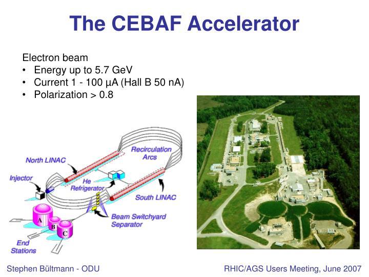 The cebaf accelerator