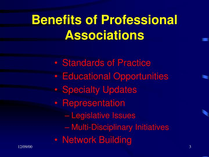 Benefits of professional associations