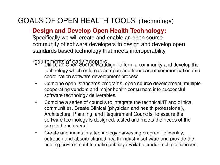 GOALS OF OPEN HEALTH TOOLS
