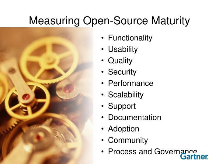 Measuring Open-Source Maturity