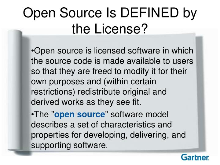 Open Source Is DEFINED by the License?