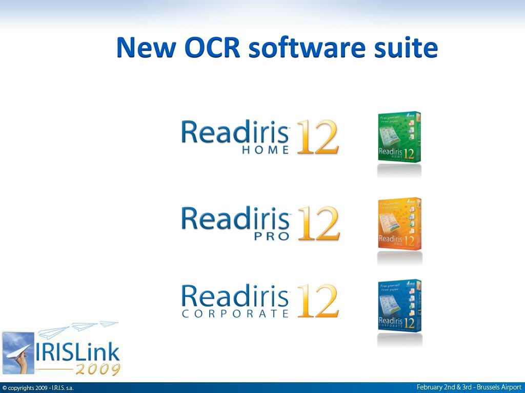 PPT - I R I S  new OCR Software suite: PowerPoint