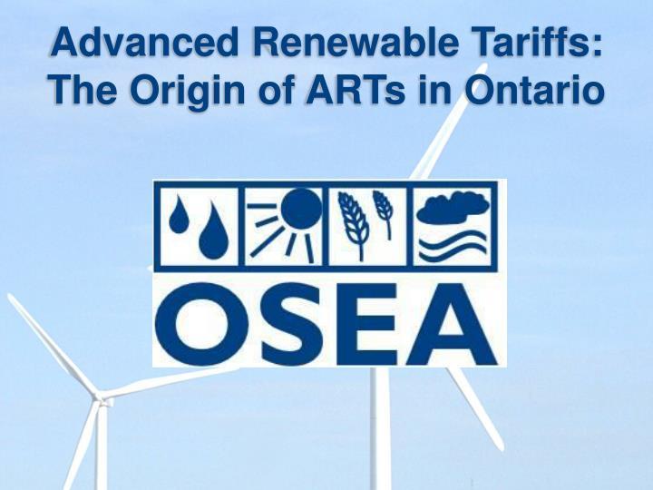 Advanced Renewable Tariffs: