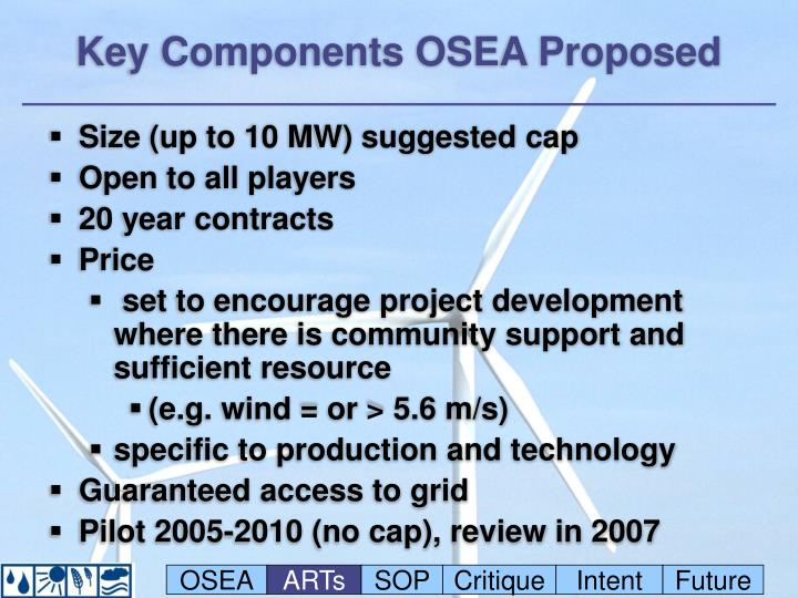 Key Components OSEA Proposed