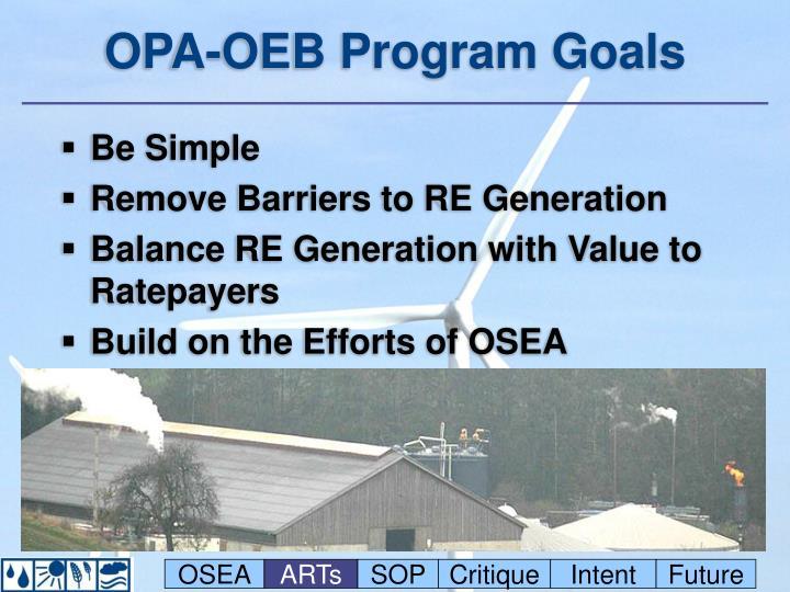 OPA-OEB Program Goals
