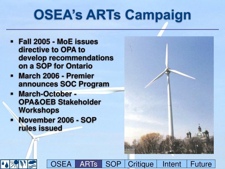 OSEA's ARTs Campaign