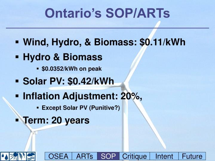 Ontario's SOP/ARTs