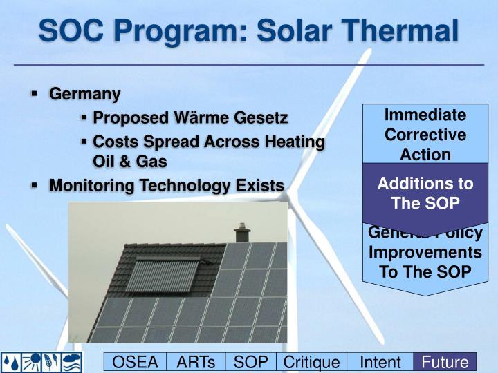 SOC Program: Solar Thermal