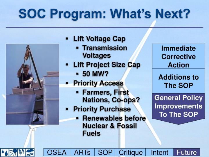 SOC Program: What's Next?