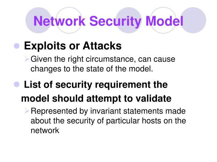 Network Security Model