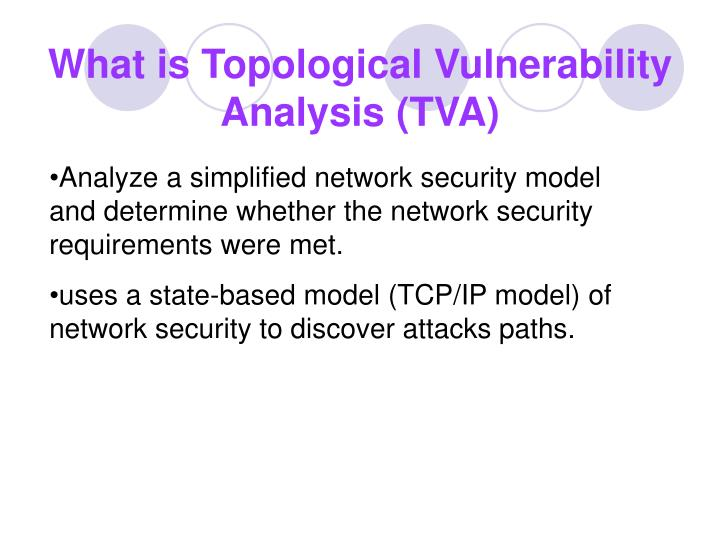 What is topological vulnerability analysis tva