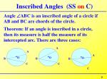 inscribed angles ss on c