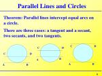 parallel lines and circles1