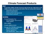 climate forecast products