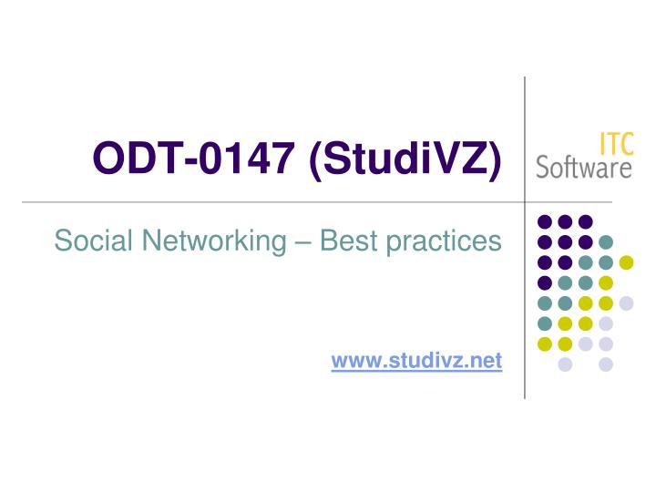 Odt 0147 studivz