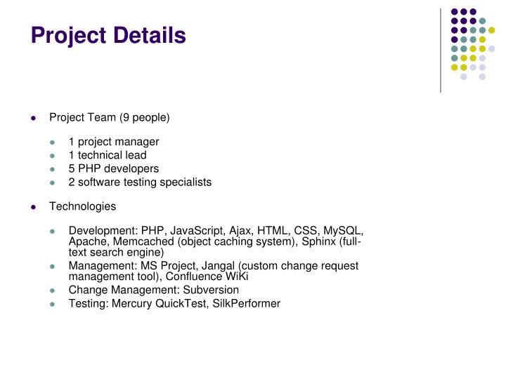 Project details1