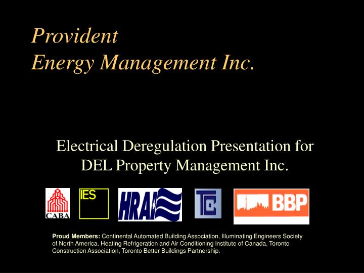 provident energy management inc n.