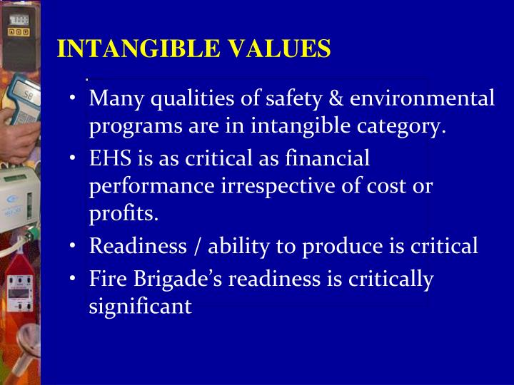 INTANGIBLE VALUES