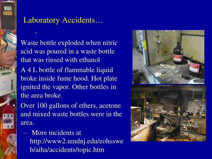 Laboratory Accidents…