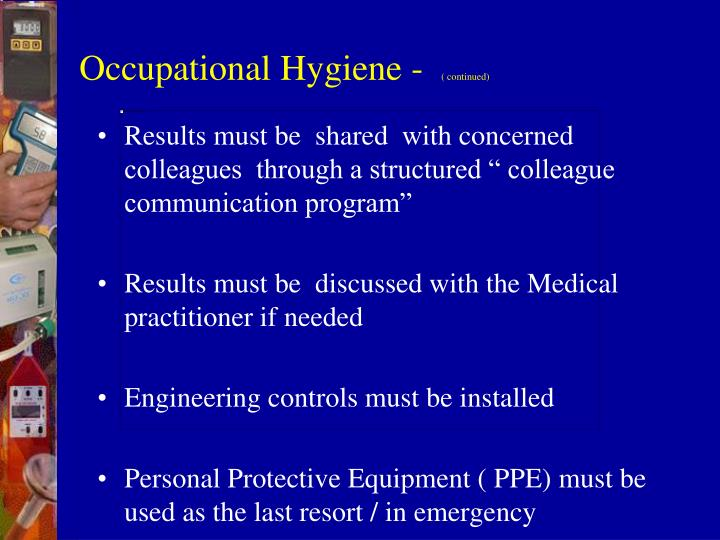 Occupational Hygiene -