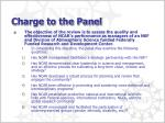 charge to the panel