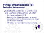 virtual organizations 3 evaluation assessment