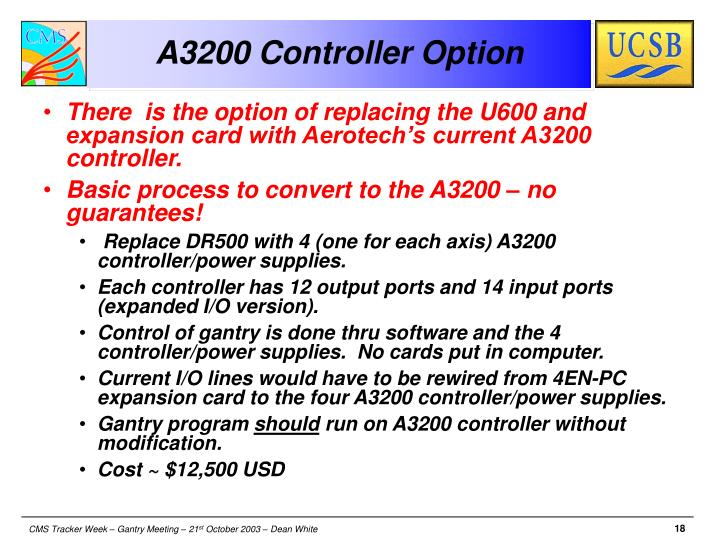 A3200 Controller Option