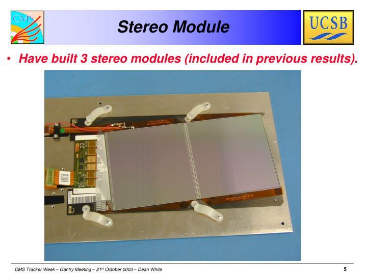 Stereo Module