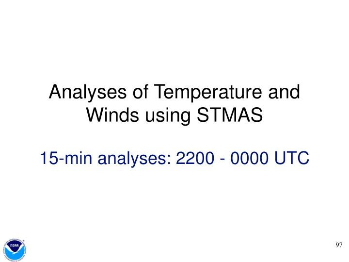 Analyses of Temperature and Winds using STMAS