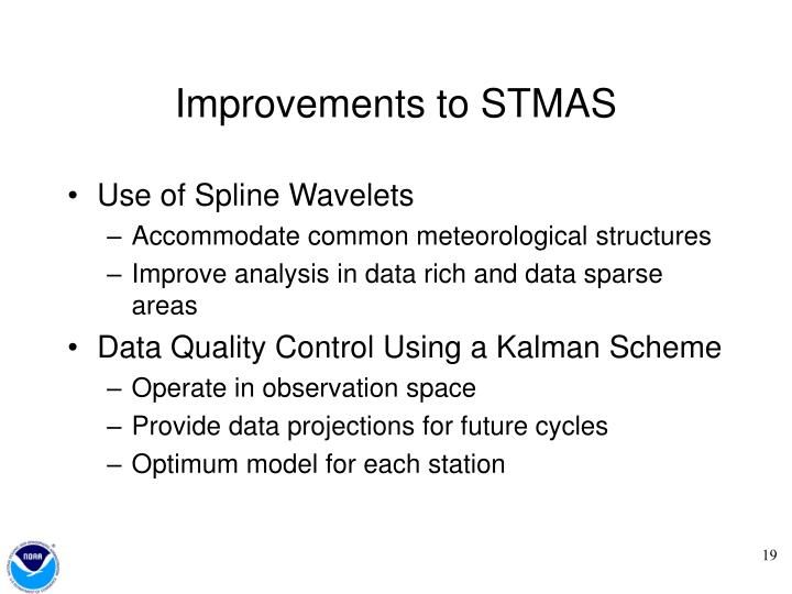 Improvements to STMAS
