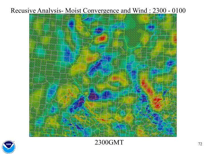 Recusive Analysis- Moist Convergence and Wind : 2300 - 0100
