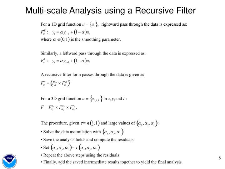 Multi-scale Analysis using a Recursive Filter