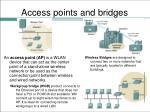 access points and bridges