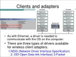 clients and adapters