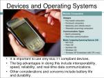 devices and operating systems
