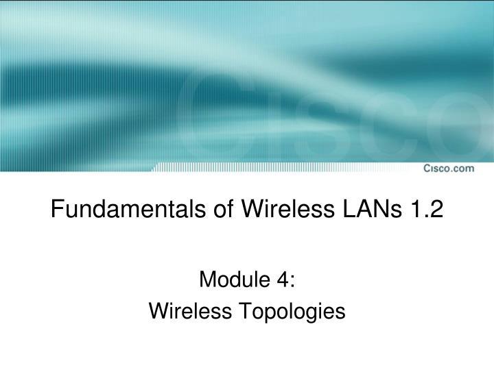 fundamentals of wireless lans 1 2 n.