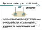 system redundancy and load balancing2