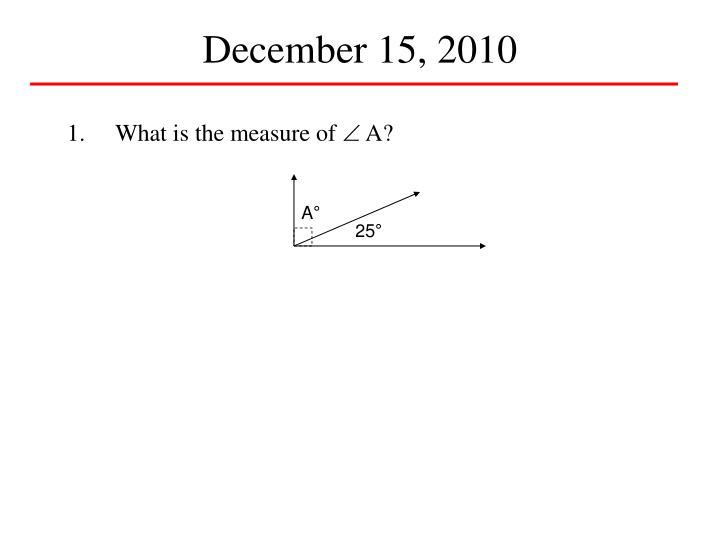 December 15, 2010