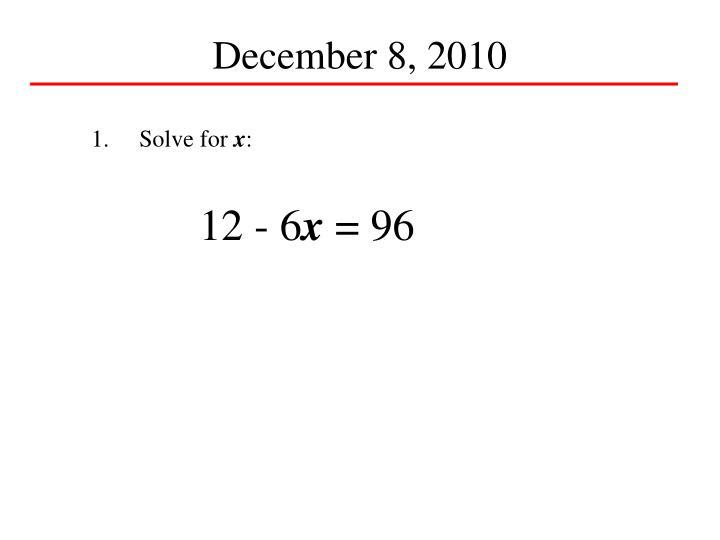 December 8, 2010