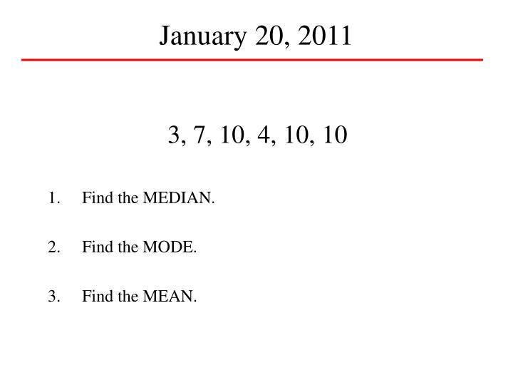 January 20, 2011
