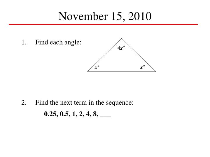 November 15, 2010