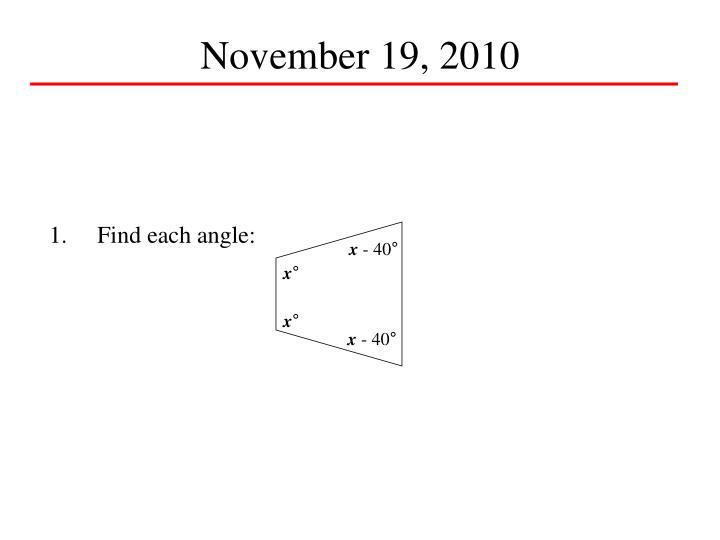 November 19, 2010