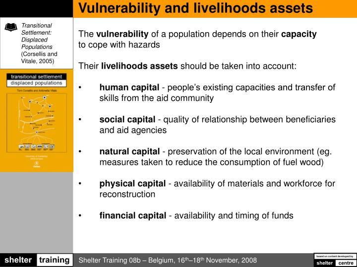 Vulnerability and livelihoods assets