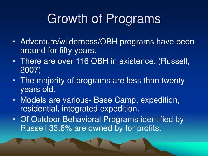 Growth of Programs