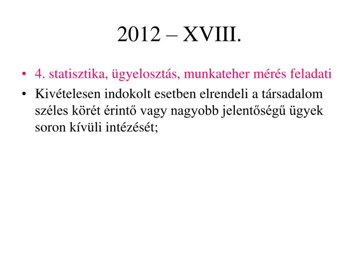 2012 – XVIII.