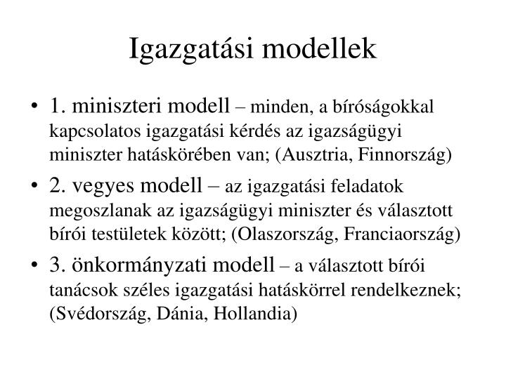 Igazgatási modellek