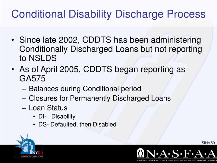 Conditional Disability Discharge Process